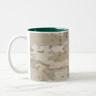 Platan bark texture Two-Tone coffee mug