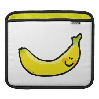 Plátano amarillo divertido fundas para iPads