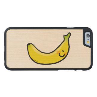 Plátano amarillo divertido funda de iPhone 6 carved® de arce