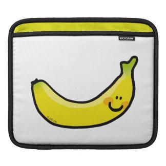 Plátano amarillo divertido manga de iPad