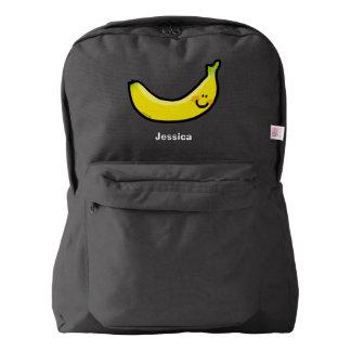 Plátano amarillo divertido mochila