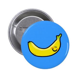 Plátano amarillo divertido pin redondo 5 cm