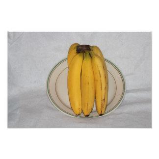 Plátano amarillo en una ampliación de la foto de l fotografías