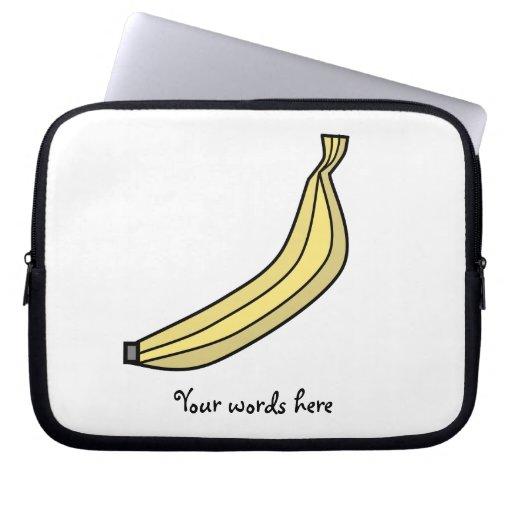Plátano amarillo enrrollado del país mangas computadora