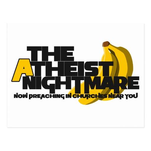 Plátano ateo tarjetas postales