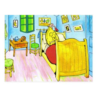 plátano-cama postal