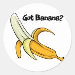 Plátano conseguido pegatina redonda