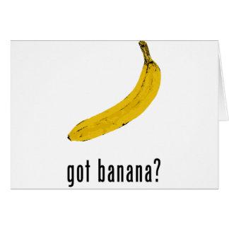 ¿Plátano conseguido Tarjeta