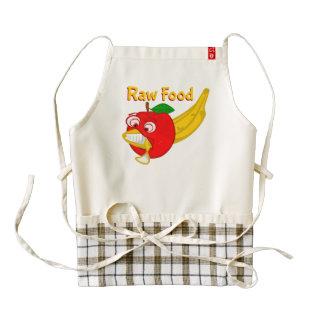 Plátano crudo de los versos de Apple de la lucha Delantal Zazzle HEART