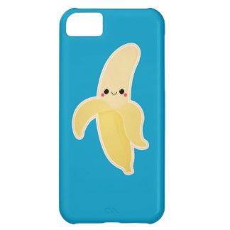 Plátano de Kawaii en azul