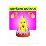 Plátano del cumpleaños postales