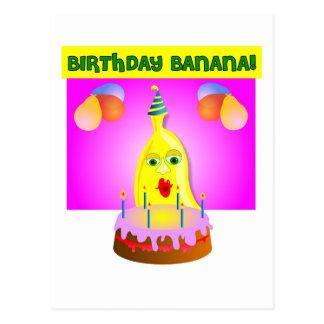 Plátano del cumpleaños postal