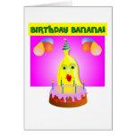 Plátano del cumpleaños tarjeton