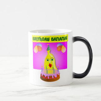 Plátano del cumpleaños tazas de café