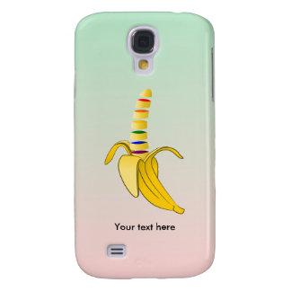 Plátano del dibujo animado del diseño de los funda para galaxy s4