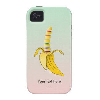 Plátano del dibujo animado del diseño de los vibe iPhone 4 carcasas