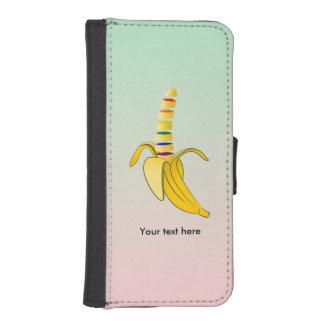 Plátano del dibujo animado del diseño de los fundas billetera para teléfono