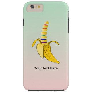 Plátano del dibujo animado del orgullo de LQBQ Funda De iPhone 6 Plus Tough