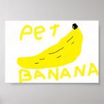 plátano del mascota poster