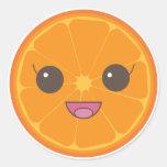 Plátano del naranja no pegatinas