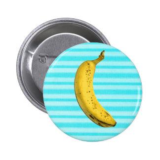 Plátano divertido pin redondo de 2 pulgadas