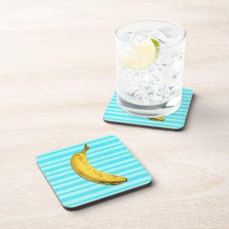 Plátano divertido posavasos de bebidas