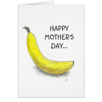 Plátano, el DÍA de MADRE FELIZ Tarjeta
