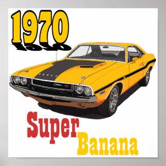 Plátano estupendo póster