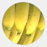 Plátano Etiquetas Redondas