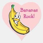plátano feliz calcomania corazon personalizadas