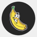 plátano feliz etiquetas redondas