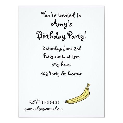 Plátano Invitación 10,8 X 13,9 Cm