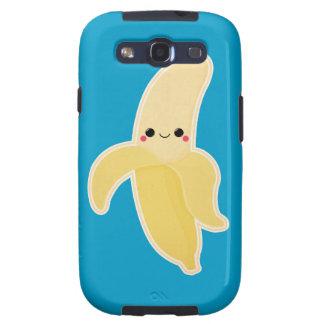Plátano lindo de Kawaii Galaxy S3 Cobertura