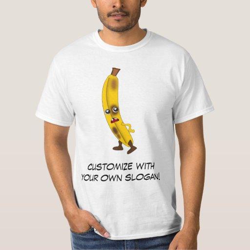 Plátano: Mala cuadrilla de la fruta con el texto Polera
