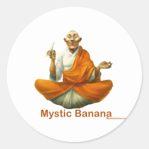 Plátano místico pegatina redonda