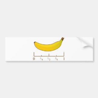 Plátano para la escala pegatina para auto