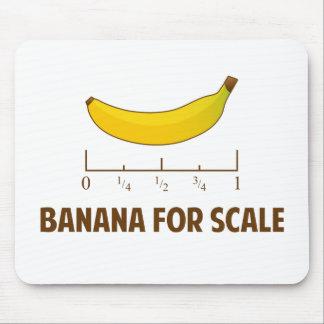Plátano para la escala alfombrillas de ratones