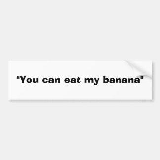 plátano pegatina para auto