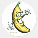 Plátano Pegatinas Redondas