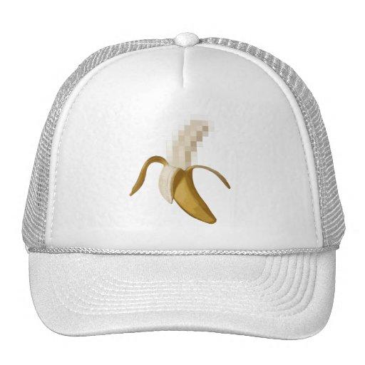 Plátano pelado censurado sucio gorras