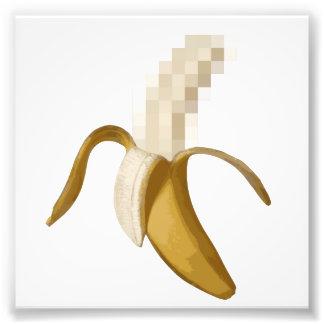 Plátano pelado censurado sucio