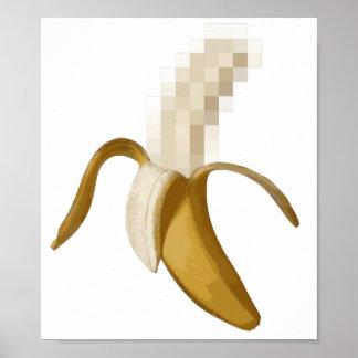 Plátano pelado censurado sucio póster