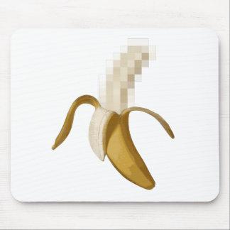 Plátano pelado censurado sucio tapetes de raton