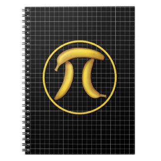 Plátano pi, empanada libros de apuntes