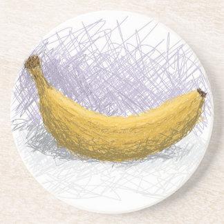 plátano posavasos diseño