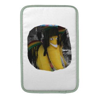 Plátano relleno del rasta en los parques de atracc fundas macbook air