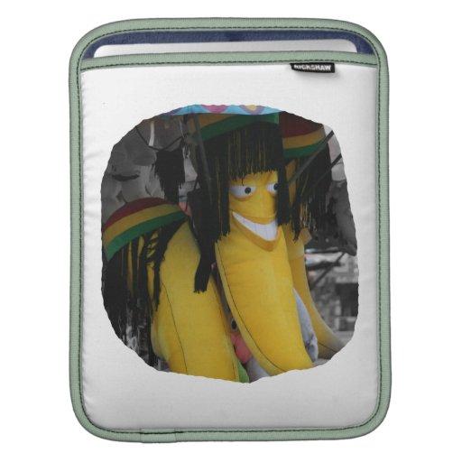 Plátano relleno del rasta en los parques de atracc fundas para iPads