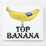Plátano superior alfombrilla de raton