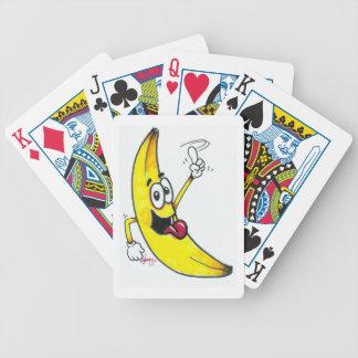 Plátano superior, dibujo animado de baile del baraja de cartas