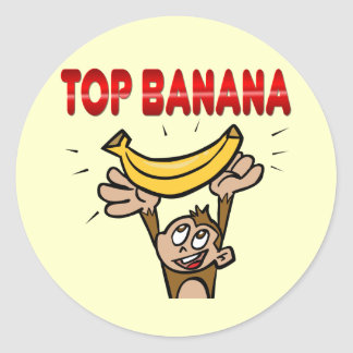 Plátano superior etiquetas redondas
